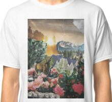 Forest Scene Paper Collage Classic T-Shirt