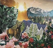 Forest Scene Paper Collage by AnotherQuirk