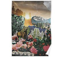 Forest Scene Paper Collage Poster