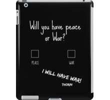 I Will Have War! - The Hobbit (White font) iPad Case/Skin