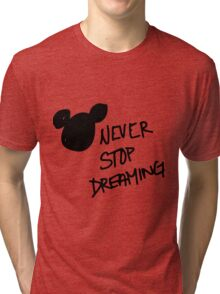 Never stop dreaming Tri-blend T-Shirt