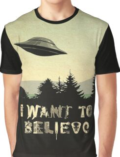 X-Phile: I WANT TO BELIEVE Graphic T-Shirt