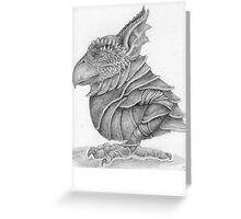 armoured Crax Greeting Card