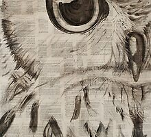 Owl Watercolor by chrissiebrown