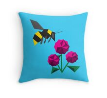 Bee-ometry Throw Pillow