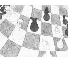 Chessboard Battle Photographic Print
