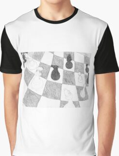 Chessboard Battle Graphic T-Shirt
