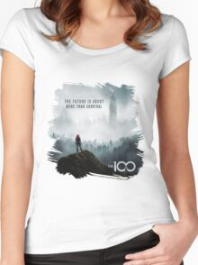 The 100 - More Than Survival Women's Fitted Scoop T-Shirt