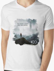 The 100 - More Than Survival Mens V-Neck T-Shirt