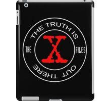 X-Files, red, white, black logo design iPad Case/Skin