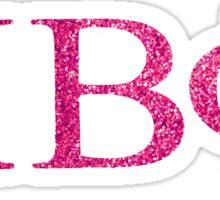 pi phi pink sparkly shit Sticker