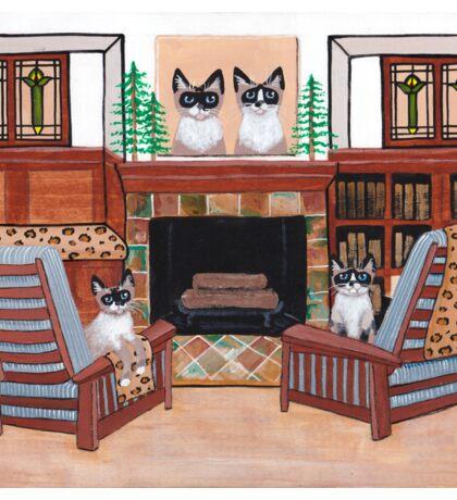 The Snowshoe Siamese Room Sticker