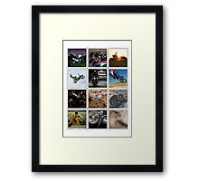 Motorcycle Poster Framed Print