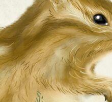 Adorable Whimsical Chipmunk Illustration Sticker