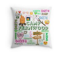 camp fernwood white background Throw Pillow