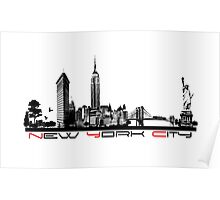 New York City skyline elegant Poster