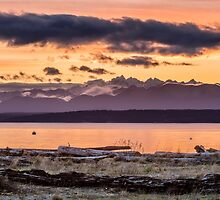 Puget Sound Sunset From Whidbey Island by Jim Stiles
