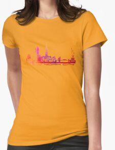 New York City skyline purple Womens Fitted T-Shirt