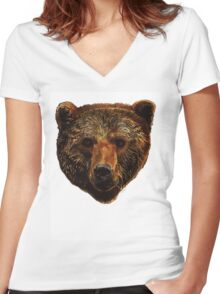 Grizzly Bear Women's Fitted V-Neck T-Shirt