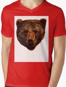 Grizzly Bear Mens V-Neck T-Shirt