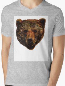 Grizzly Bear Mens V-Neck T-Shirt