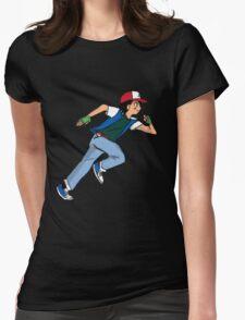 Ash Ketchum Running Womens Fitted T-Shirt