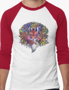 Rainbow Hiding Fox Men's Baseball ¾ T-Shirt