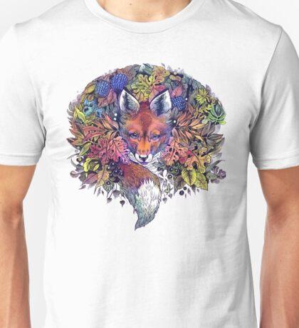 Rainbow Hiding Fox Unisex T-Shirt