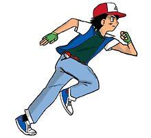 Ash Ketchum Running by Sam Whitelaw
