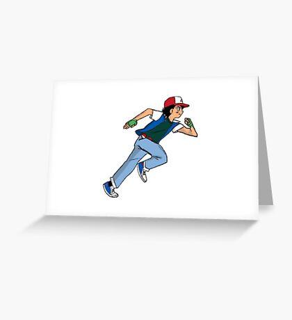 Ash Ketchum Running Greeting Card