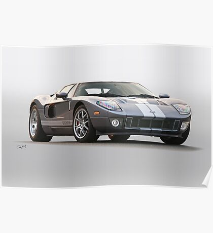 2006 Ford Production GT Poster