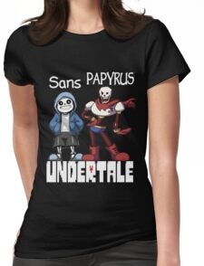 Sans and Papyrus Womens Fitted T-Shirt
