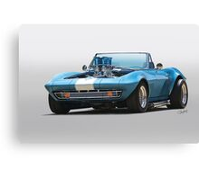 1965 Corvette 'Fuel Injected' Convertible Canvas Print
