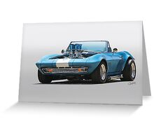 1965 Corvette 'Fuel Injected' Convertible Greeting Card