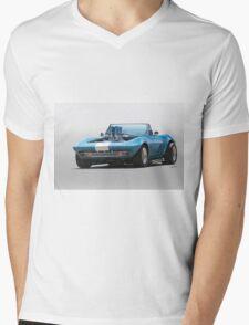 1965 Corvette 'Fuel Injected' Convertible Mens V-Neck T-Shirt