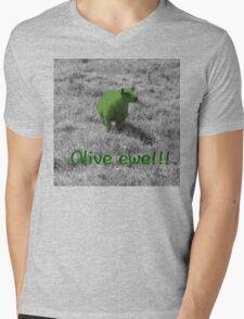 Olive ewe!!! Mens V-Neck T-Shirt