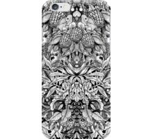 Black and White Summer Forest Drawing iPhone Case/Skin