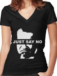 Just Say No - Richard Nixon Women's Fitted V-Neck T-Shirt