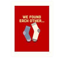 Character Building - Valentines Socks Art Print