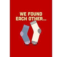 Character Building - Valentines Socks Photographic Print