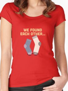 Character Building - Valentines Socks Women's Fitted Scoop T-Shirt