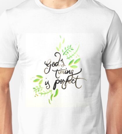 God's Timing is Perfect (gouache painting) Unisex T-Shirt