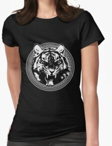 Angry Feroce Tiger Aggressive front face big cat t shirt sticker pencil hoodie Womens Fitted T-Shirt
