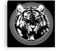 Angry Feroce Tiger Aggressive front face big cat t shirt sticker pencil hoodie Canvas Print