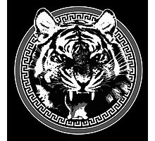 Angry Feroce Tiger Aggressive front face big cat t shirt sticker pencil hoodie Photographic Print