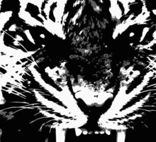 Angry Feroce Tiger Aggressive front face big cat t shirt sticker pencil hoodie Sticker