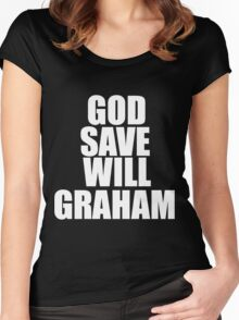 GOD SAVE WILL GRAHAM - Hannibal Women's Fitted Scoop T-Shirt