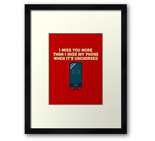 Character Building - Uncharged valentines Framed Print