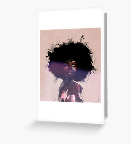 Afro Funk Greeting Card