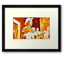 Hank Williams Pop Art Framed Print
